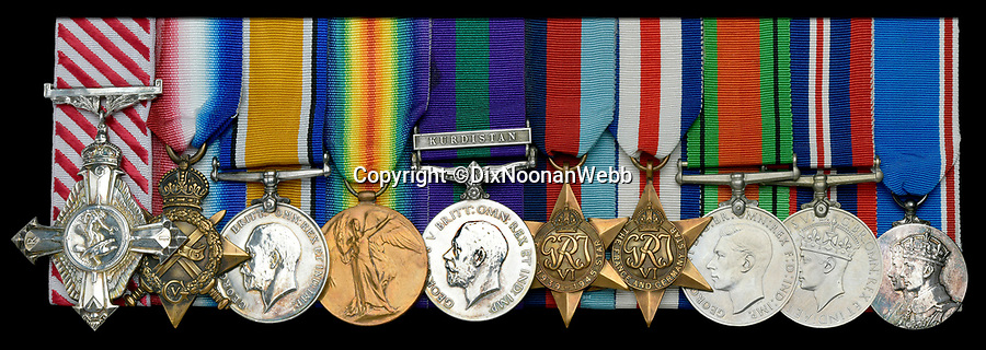 BNPS.co.uk (01202) 558833<br /> Picture:  DixNoonanWebb/BNPS<br /> <br /> The wartime medals awarded to the man who masterminded the Dambusters Raid and the sinking of a fearsome German battleship have emerged for sale.<br /> <br /> Air Chief Marshal Sir Ralph 'Cocky' Cochrane planned in minute detail the audacious RAF operation to destroy three German dams using inventor Sir Barnes Wallis' 'bouncing bomb' in 1943.<br /> <br /> A year later he came up with the idea of how to bomb the formidable Nazi battleship the Tirpitz - while sat in his bath.<br /> <br /> His medals are being sold for £8,000 at a London auction.