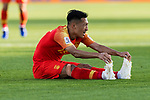 Wu Xi of China sits on the pitch during the AFC Asian Cup UAE 2019 Group C match between China (CHN) and Kyrgyz Republic (KGZ) at Khalifa Bin Zayed Stadium on 07 January 2019 in Al Ain, United Arab Emirates. Photo by Marcio Rodrigo Machado / Power Sport Images