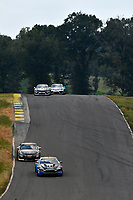 IMSA Continental Tire SportsCar Challenge<br /> Biscuitville Grand Prix<br /> Virginia International Raceway, Alton, VA USA<br /> Saturday 26 August 2017<br /> 99, Aston Martin, Aston Martin Vantage, GS, Rob Ecklin Jr., Steven Phillips, 38, Porsche, Porsche Cayman GT4, James Cox, John Tecce<br /> World Copyright: Scott R LePage<br /> LAT Images