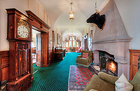 BNPS.co.uk (01202 558833)<br /> Pic: BellIngram/BNPS<br /> <br /> Baronial style interiors.<br /> <br /> A magnificient Scottish castle which comes with its own two islands is on the market for £3.75million.<br /> <br /> Glenborrodale Castle is situated on the southern shore of the picturesque Ardnamurchan Peninsula in the remote Highlands. <br /> <br /> The baronial mansion dates from 1902 and is built from distinctive red Dumfriesshire sandstone.<br /> <br /> It boasts 133 acres of land taking in the idyllic uninhabited isles of Risga and Eileam an Feidh.<br /> <br /> The larger of the two, Risga, spans 30 acres and is in the centre of Loch Sunart, 800 yards from the north shore