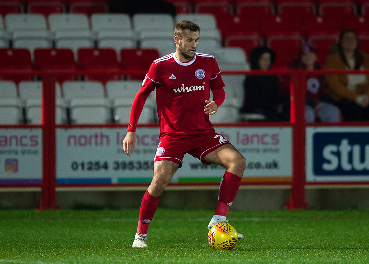 Accrington Stanley's Nick Anderton<br /> <br /> Photographer Andrew Vaughan/CameraSport<br /> <br /> The EFL Checkatrade Trophy Second Round - Accrington Stanley v Lincoln City - Crown Ground - Accrington<br />  <br /> World Copyright © 2018 CameraSport. All rights reserved. 43 Linden Ave. Countesthorpe. Leicester. England. LE8 5PG - Tel: +44 (0) 116 277 4147 - admin@camerasport.com - www.camerasport.com