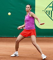 12.04.2012 Barcelona, Spain. WTA Barcelona Ladies Open. Picture show Flavia Pennetta (ITA) at Centre municipal de tennis Vall d'Hebron