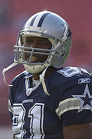 05 November 2006:  Dallas Cowboys WR Terrell Owens (81)..The Washington Redskins defeated the Dallas Cowboys 22-19 at FedEx Field in Landover, MD.