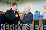 Former Kerry footballers Noel Kennelly and Jimmy Deenihan pictured at the local elections at John Mitchels on Sunday.