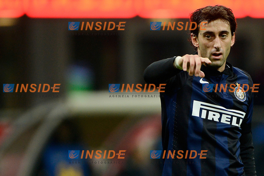Diego Milito Inter<br /> Milano 09-02-2014 Stadio Giuseppe Meazza - Football 2013/2014 Serie A. Inter - Sassuolo Foto Giuseppe Celeste / Insidefoto