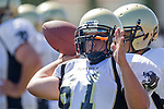 Torrance, CA 09/08/11 - Kasra Yeganeh (Peninsula #61) in action during the North-Peninsula Junior Varsity Football game at North High School in Torrance.