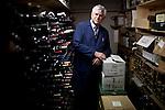 Darrell Corti poses for a portrait in a wine storage room at Corti Bros. in Sacramento, Calif., March 3, 2012.