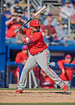 6 March 2019: Philadelphia Phillies catcher Deivy Gruillon at bat during a Spring Training game against the Toronto Blue Jays at Dunedin Stadium in Dunedin, Florida. The Blue Jays defeated the Phillies 9-7 in Grapefruit League play. Mandatory Credit: Ed Wolfstein Photo *** RAW (NEF) Image File Available ***
