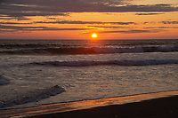 Sunset from Kalaloch Beach, Olympic Peninsula, Washington, US