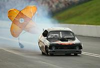 Jun 17, 2017; Bristol, TN, USA; NHRA jet funny car driver David Douthit during qualifying for the Thunder Valley Nationals at Bristol Dragway. Mandatory Credit: Mark J. Rebilas-USA TODAY Sports