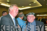 1442-1462.John ODonoghue (FF) shares a joke with Jackie Healy-Rae (Ind) at the South Kerry count in The Malton Hotel, Killarney, last Friday afternoon.