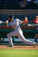 Surprise Saguaros third baseman Yadiel Rivera (10) at bat during an Arizona Fall League game against the Scottsdale Scorpions on October 22, 2015 at Scottsdale Stadium in Scottsdale, Arizona.  Surprise defeated Scottsdale 7-6.  (Mike Janes/Four Seam Images)