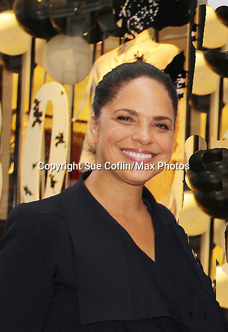 Soledad O'Brien- celebrating 30 years of style and twenty-five years of giving back through Hearts of Gold at a black carpet salon style spring/summer fashion show and cocktail reception on May 9, 2019 at Blanc et Noir, New York City, New York.(Photo by Sue Coflin/Max Photos)