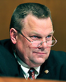 """United States Senator Jon Tester (Democrat of Montana) questions Lloyd Blankfein, Chairman and Chief Executive Officer, The Goldman Sachs Group, Inc. (GSI), during the U.S. Senate Permanent Subcommittee on Investigations hearing on """"Wall Street and the Financial Crisis: The Role of Investment Banks"""" using Goldman Sachs as a case study on Tuesday, April 27, 2010. .Credit: Ron Sachs / CNP.(RESTRICTION: NO New York or New Jersey Newspapers or newspapers within a 75 mile radius of New York City)"""