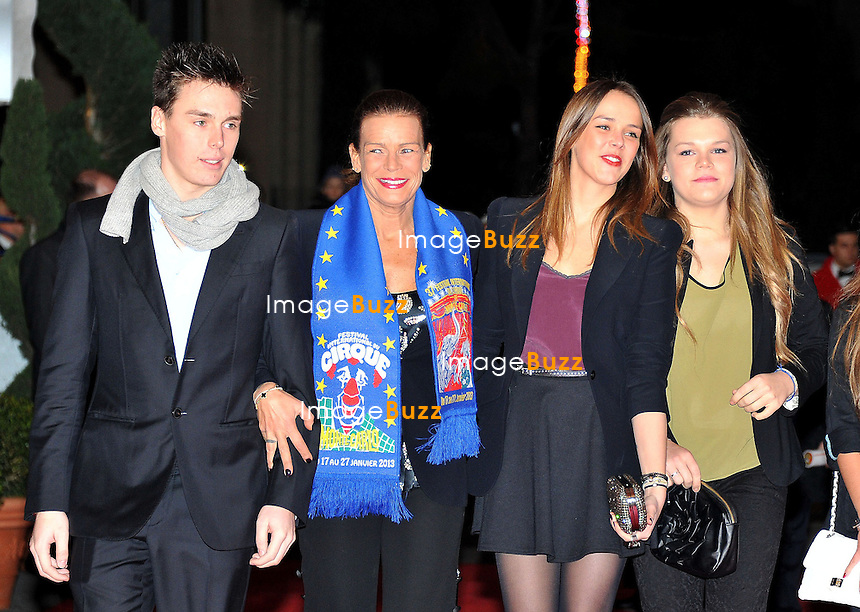 MONACO, PRINCESS STEPHANIE OF MONACO ATTENDS THE 2ND DAY OF THE 37TH CIRCUS FESTIVAL /January 18, 2013-Monaco (MCO)-Princess Stephanie attends the second day of the 37th Monte-Carlo Circus Festival with her children Louis Ducruet, Pauline Ducruet and Camille Gottlieb..