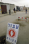 Israel 1982. Rafah border crossing. Bedouin woman on donkey. <br />