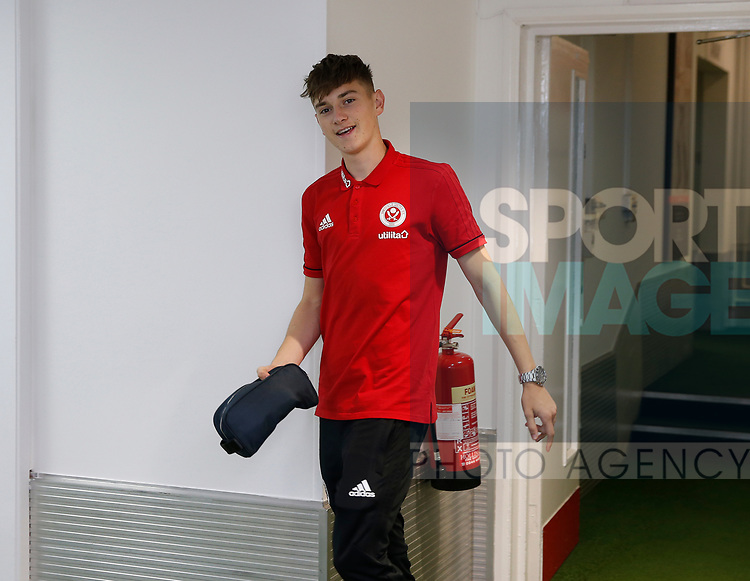 David Brooks of Sheffield Utd arrives during the English Championship League match at Bramall Lane Stadium, Sheffield. Picture date: August 5th 2017. Pic credit should read: Simon Bellis/Sportimage