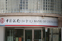 Bank of China logo is seen in Toronto Chinatown April 23, 2010. Founded in 1912, Bank of China Limited (BOC) is one of the big four state-owned commercial banks of the People's Republic of China.