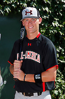 Third Baseman / Pitcher Carson Kelly #13 poses for a photo before the Under Armour All-American Game at Wrigley Field on August 13, 2011 in Chicago, Illinois.  (Mike Janes/Four Seam Images)
