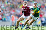 James O'Donoghue Kerry in action against Liam Silke Galway in the All Ireland Senior Football Quarter Final at Croke Park on Sunday.