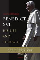 Ignatius Press USA Edition. The Biography Pope Benedict XVI. 2018<br /> Photograph by Stefano Spaziani.<br /> <br /> Benedict XVI: His Life and Thought.<br /> In these pages Benedict XVI shares his reasons for retiring from the papacy in 2013 in an interview with the author.<br /> <br /> This extensive biography of my predecessor Benedict XVI is welcome: it offers a comprehensive, reliable, and balanced account of his life and of the development of his thought. All of us in the Church owe a great debt of gratitude to Joseph Ratzinger/Benedict XVI for the depth and balance of his theological thought, which he has always lived out in service to the Church up to the highest positions of responsibility.""