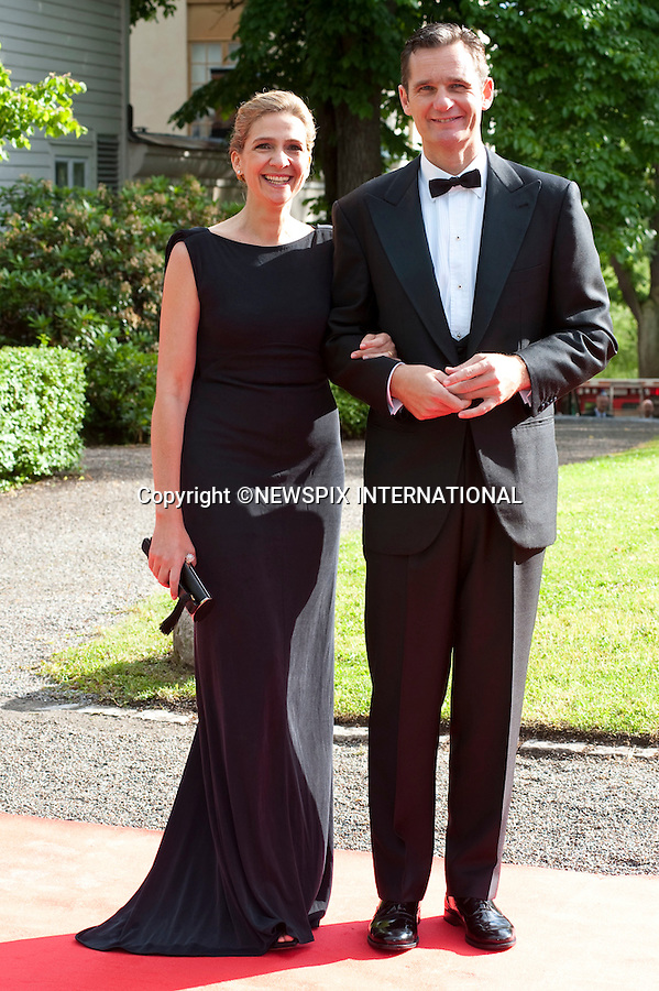 """INFANTA DONA CRISTINA and DON INAKI URDANGARIN.Pre-Wedding Dinner hosted by the Government of Sweden in honour of H.R.H Crown Princess Victoria and Mr Daniel Westling at Eric Ericsonhallen was attended by Royalty from all over the world. Stockholm_18/06/2010..Mandatory Photo Credit: ©Dias/Newspix International..**ALL FEES PAYABLE TO: """"NEWSPIX INTERNATIONAL""""**..PHOTO CREDIT MANDATORY!!: NEWSPIX INTERNATIONAL(Failure to credit will incur a surcharge of 100% of reproduction fees)..IMMEDIATE CONFIRMATION OF USAGE REQUIRED:.Newspix International, 31 Chinnery Hill, Bishop's Stortford, ENGLAND CM23 3PS.Tel:+441279 324672  ; Fax: +441279656877.Mobile:  0777568 1153.e-mail: info@newspixinternational.co.uk"""