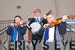 Kerry Fleadh Cheoil : Members of Ballydonoghue CCE taking part in the Kerry Fleadh Cheoil at the Tintean Theatre, Ballybunion on Saturday last. L-R: Gerard Browne, Diarmuid O'Mahony & Patrick Kissane.