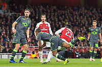 Arsenal's Danny Welbeck pick up leg injury during the UEFA Europa League match between Arsenal and Sporting Clube de Portugal at the Emirates Stadium, London, England on 8 November 2018. Photo by Andrew Aleksiejczuk / PRiME Media Images.