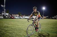 Sven Nys (BEL/Crelan-AAdrinks) testing his bike one last time before the race<br /> <br /> Cross Vegas 2014