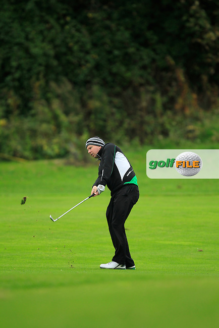 Michael McDermott (Pure Golf Leopardstown) on the 16th during Round 3 of The Cassidy Golf 103rd Irish PGA Championship in Roganstown Golf Club on Saturday 12th October 2013.<br /> Picture:  Thos Caffrey / www.golffile.ie