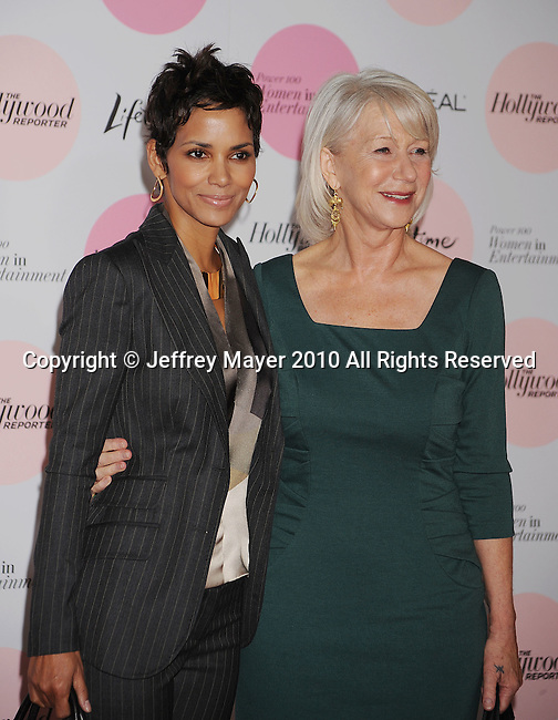 BEVERLY HILLS, CA. - December 07: Halle Berry and Helen Mirren attend The Hollywood Reporter's Power 100: Women In Entertainment Breakfast at Beverly Hills Hotel on December 7, 2010 in Beverly Hills, California.