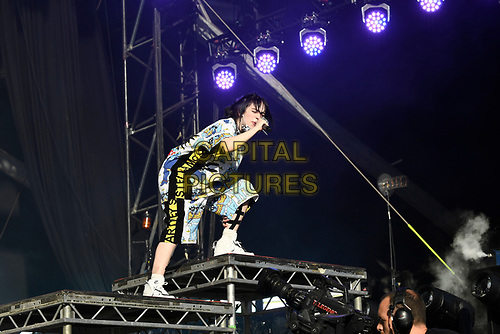 SHEPTON MALLET, ENGLAND - JUNE 30: Billie Eilish performing at Glastonbury Festival, Worthy Farm, Pilton, on June 30, 2019 in Shepton Mallet, England.<br /> CAP/MAR<br /> ©MAR/Capital Pictures