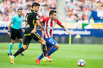 Atletico de Madrid's player Ángel Martín Correa and Sporting de Gijon's Sergio A. during a match of La Liga Santander at Vicente Calderon Stadium in Madrid. September 17, Spain. 2016. (ALTERPHOTOS/BorjaB.Hojas)