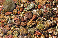 River rocks under the water