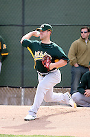 Joey Devine - Oakland Athletics - 2009 spring training.Photo by:  Bill Mitchell/Four Seam Images