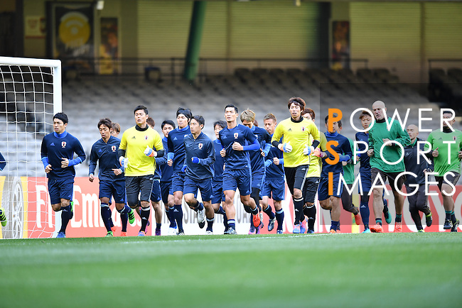 Japan's Training Session prior to the 2018 FIFA World Cup Russia Asian Qualifiers Final Qualification Round Group B match between Australia and Japan at Etihad Stadium on 10 October 2016, in Melbourne, Australia. Photo by Thananuwat Srirasant / Lagardere Sports