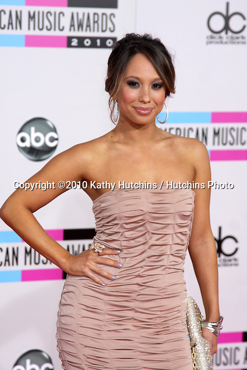 LOS ANGELES - NOV 21:  Cheryl Burke arrives at the 2010 American Music Awards at Nokia Theater on November 21, 2010 in Los Angeles, CA