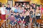 21ST BIRTHDAY: Tom Healy, Caherslee (front 4th left) having a great time celebrating his 21st birthday with family and friends at the Stokers Lodge restaurant and bar, Tralee on Saturday...