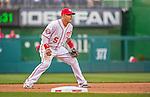 22 May 2015: Washington Nationals infielder Yunel Escobar in action against the Philadelphia Phillies at Nationals Park in Washington, DC. The Nationals defeated the Phillies 2-1 in the first game of their 3-game weekend series. Mandatory Credit: Ed Wolfstein Photo *** RAW (NEF) Image File Available ***