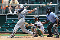 5 June 2010:  FIU's Yoandy Barroso (38) hits a home run in the fifth inning as the Dartmouth Green Wave defeated the FIU Golden Panthers, 15-9, in Game 3 of the 2010 NCAA Coral Gables Regional at Alex Rodriguez Park in Coral Gables, Florida.