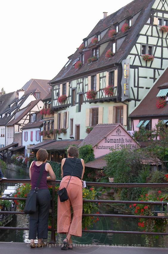 little venice 'petite venise' rue de turenne bridge colmar alsace france