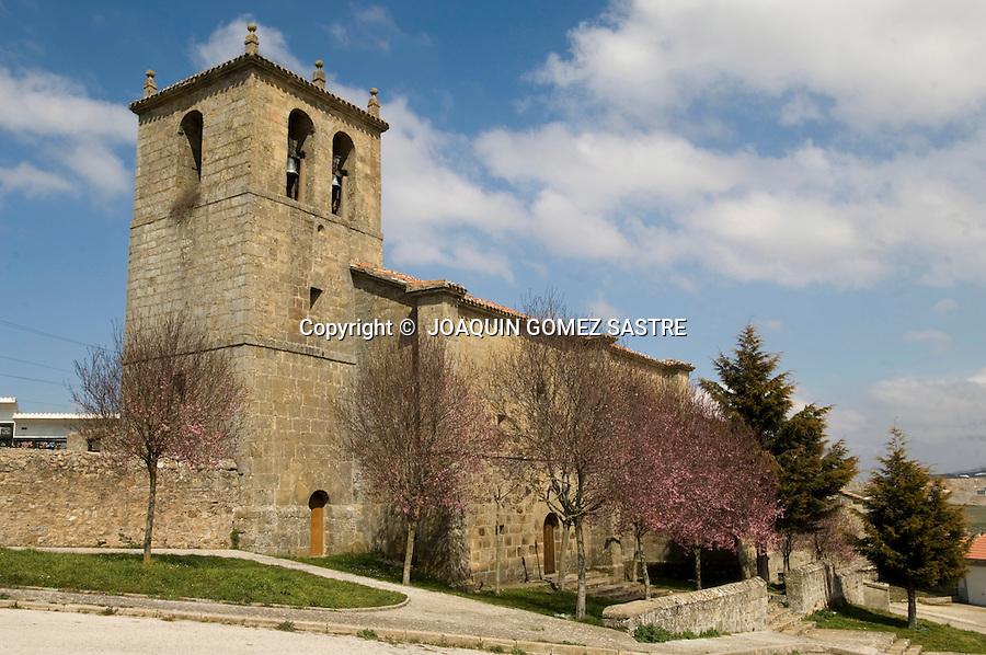 MATAPORQUERA-CANTABRIA.Iglesia de Santa Eulalia en Mataporquera capital municipal de Valdeolea..foto JOAQUIN GOMEZ SASTRE©