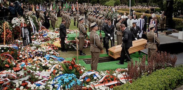 WARSAW, POLAND, 4/05/2015:<br /> Funeral of professor Wladyslaw Bartoszewski, former Polish foreign minister.<br /> (Photo by Piotr Malecki / Napo Images)<br /> <br /> WARSZAWA, 04/05/015:<br /> Pogrzeb profesora Wladyslawa Bartoszewskiego<br /> Fot: Piotr Malecki / Napo Images