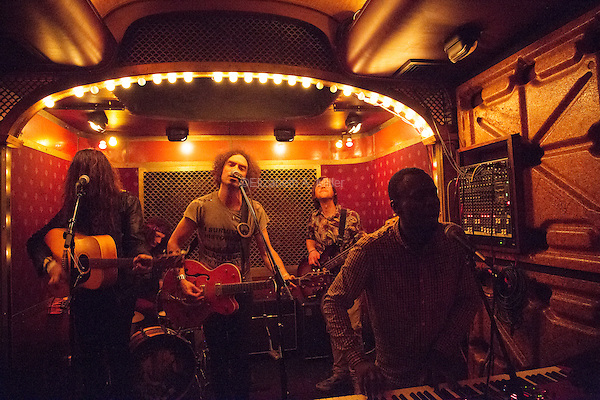 Immigrant Union performs at Pete's Candy Store in Brooklyn, New York on October 24, 2014.