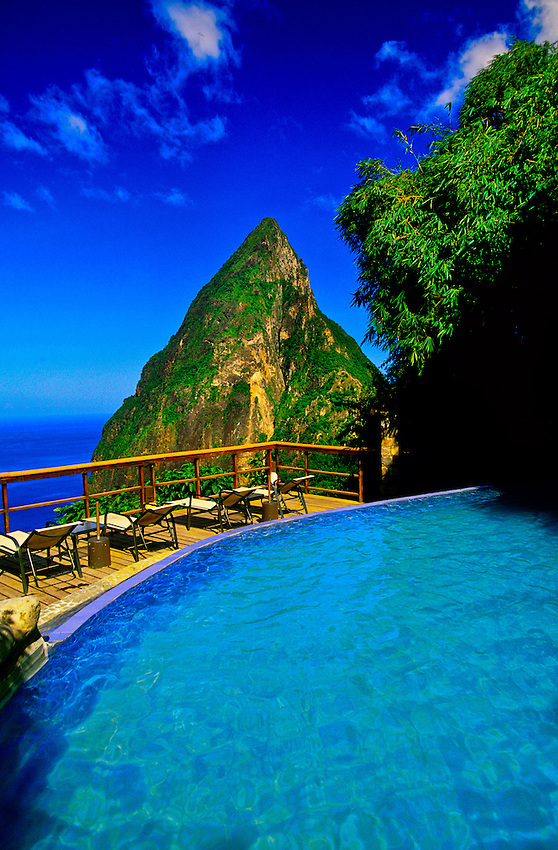 Ladera Resort (Petit Piton in back), Soufriere, St. Lucia