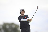 Angel Hidalgo of Team Spain on the 3rd tee during Round 3 of the WATC 2018 - Eisenhower Trophy at Carton House, Maynooth, Co. Kildare on Friday 7th September 2018.<br /> Picture:  Thos Caffrey / www.golffile.ie<br /> <br /> All photo usage must carry mandatory copyright credit (&copy; Golffile | Thos Caffrey)