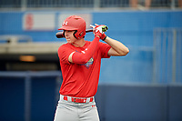 Daniel Susac (21) during the Under Armour All-America Game Practice, powered by Baseball Factory, on July 21, 2019 at Les Miller Field in Chicago, Illinois.  Daniel Susac attends Jesuit Sacramento High School in Carmichael, California and is committed to the University of Arizona.  (Mike Janes/Four Seam Images)