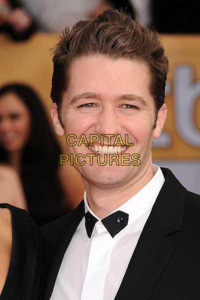 Matthew Morrison.Arrivals at the 19th Annual Screen Actors Guild Awards at the Shrine Auditorium in Los Angeles, California, USA..27th January 2013.SAG SAGs headshot portrait bow tie black white shirt tuxedo .CAP/ADM/BP.©Byron Purvis/AdMedia/Capital Pictures