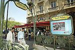 FRANCE / PARIS 25 April 2002--Paris cafes at St. Michele.PHOTO: JUHA ROININEN.