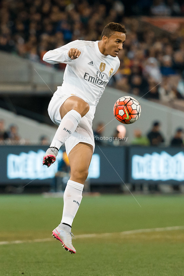 Melbourne, 18 July 2015 - Danilo Da Silva of Real Madrid controls the ball in game one of the International Champions Cup match at the Melbourne Cricket Ground, Australia. Roma def Real Madrid 7-6 Penalties. Photo Sydney Low/AsteriskImages.com